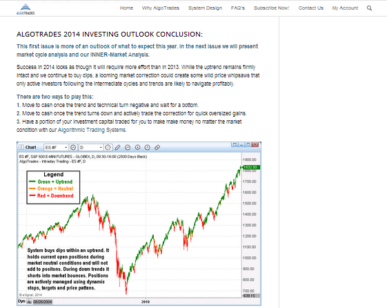 Automated trading systems and signals