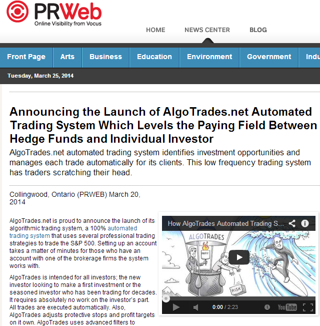 Automated Trading Systems Press Release