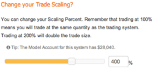 Scale AutoTrading Position Size